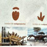 Cartel Huellas de Dinosaurio, Tereñes, Ribadesella